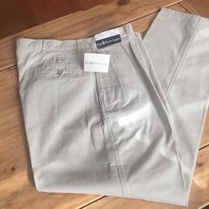 New With Tags Polo Ralph Lauren tan chinos; 36x32
